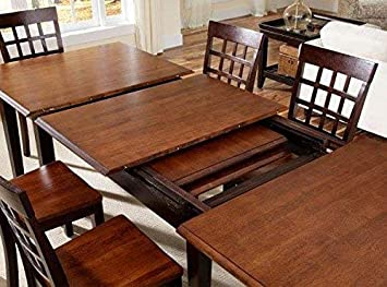 A-America Bristol Point 132 Rectangular Dining Table with 3 24 Leaves, Warm Grey