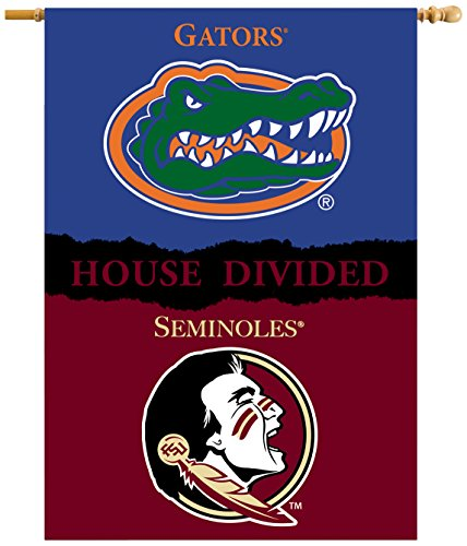 Florida State House Divided (NCAA Florida State Seminoles 2-Sided 28 x 40-Inch Banner with Pole Sleeve House Divided, One Size, Team Color)