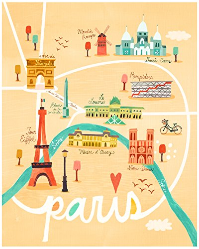 Baby Irene Four Poster (BR &Nameinternal - Map of Paris 24x30 canvas Wall Art, by Irene Chan)