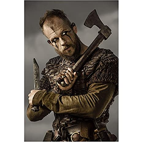 Vikings Gustaf Skarsgård as Floki Holding Axe and Blade 8 x 10 Photo
