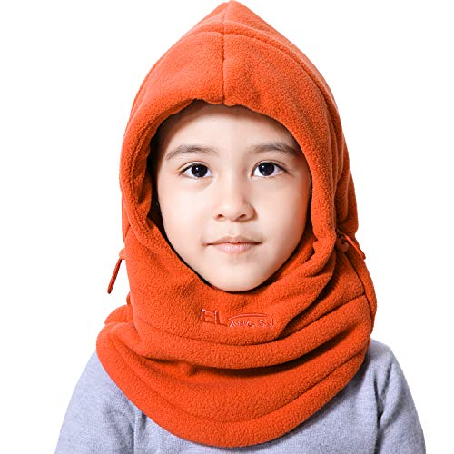 Unisex Children Balaclava Winter Hat Soft Warm Fleece Kids Ski Cap Face Cover Mask Winter Hat for Outdoor Sports