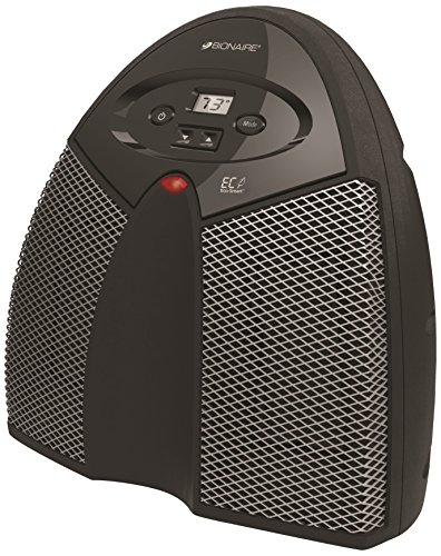 Twin Ceramic Heater, 1500W, Black