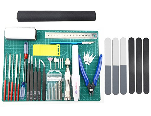 BXQINLENX Professional 33 PCS Gundam Modeler Basic Tools Craft Set For Car Airplane Building Model Assemble Building(J)