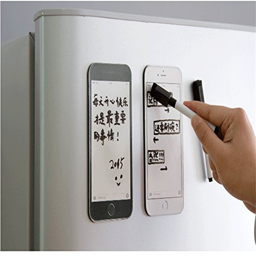 Xiaolanwelc@ Creative iPhone6 plus model Fridge Magnet /Dry Erase Flexible Magnetic Whiteboard/Memo Pad/Message Board/Dialog Box Magnet #30 ()