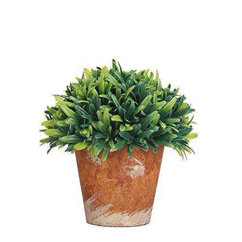 Luyue Artificial Faux Potted Plants For Home Decor,Green,Pack of 1 (Style-B Small)