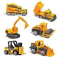 TH Toys Vehicules de Chantier Mini Jouet Camion A partir DE 3 Ans (6pcs Set)