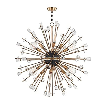 Hudson valley lighting 5046 agb liberty 6 light chandelier aged brass
