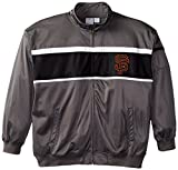 MLB San Francisco Giants Men's Track Jacket, 3X-Large Tall, Charcoal/Black