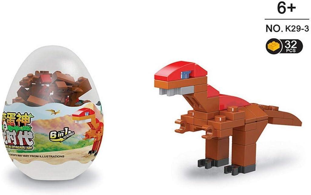 Justew Kids Dinosaur Twisted Egg Assembled Building Blocks Educational Toys Dresses
