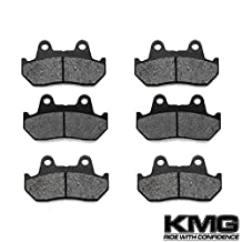 1984-1987 Honda GL 1200 A I Goldwing GL1200 Front + Rear Carbon Kevlar Organic NAO Brake Pads Set