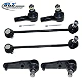 DLZ 6 Pcs Front Suspension Kit-2 Lower Ball Joints, 2 Outer Tie Rod Ends, 2 Stabilizer Sway Bars for 1995 1996 1997 1998 Mazda Protege