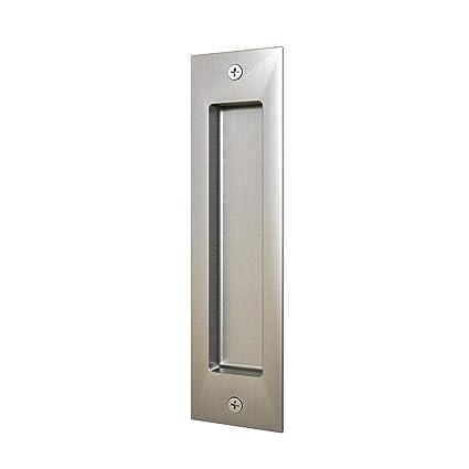 amazon com 8in satin nickel brushed flush pull handle for sliding