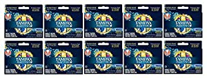 TRAVEL SIZE POCKET SIZE Tampax Pearl Regular Plastic Tampons, Unscented, Pocket Packs 3 Count Pack of 10