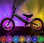 LED Bike Wheel Light, Colorful Bicycle Hub Light with Optical Design, Vibration Sensor Auto On/Off, USB Rechar