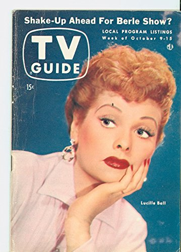1954 TV Guide Oct 9 Lucille Ball - Pittsburgh Edition NO MAILING LABEL Very Good (3 out of 10) Well Used by...