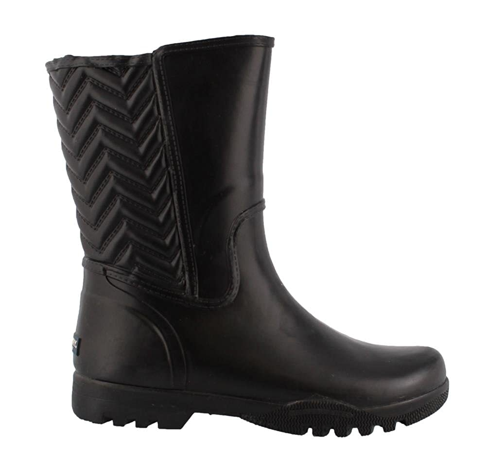 Amazon.com | SPERRY Women's, Nellie Chevron Rain Boot Black 7 M | Shoes