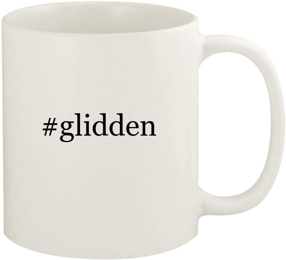 #glidden - 11oz Hashtag Ceramic White Coffee Mug Cup, White