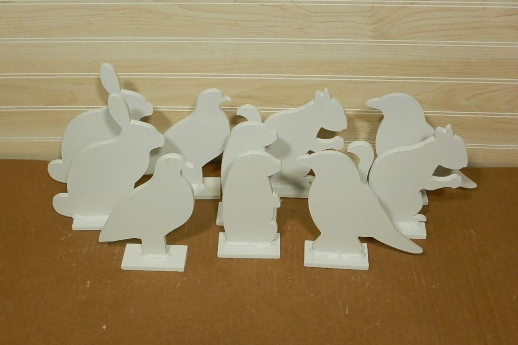 Animal Silhouette Target Targets - 10 Pcs 1/4'' Steel by Quality Targets