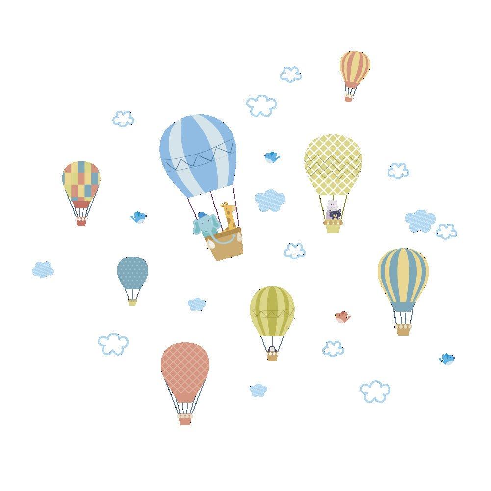 Amazon.de: FeiyanfyQ Cute Ballon Wolken Wandtattoo Selbstklebend ...