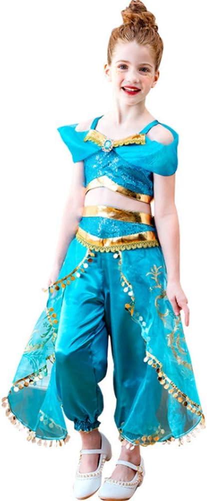 Gogh Vestido de Princesa jazmín con Detalles de Cristal Azul y ...