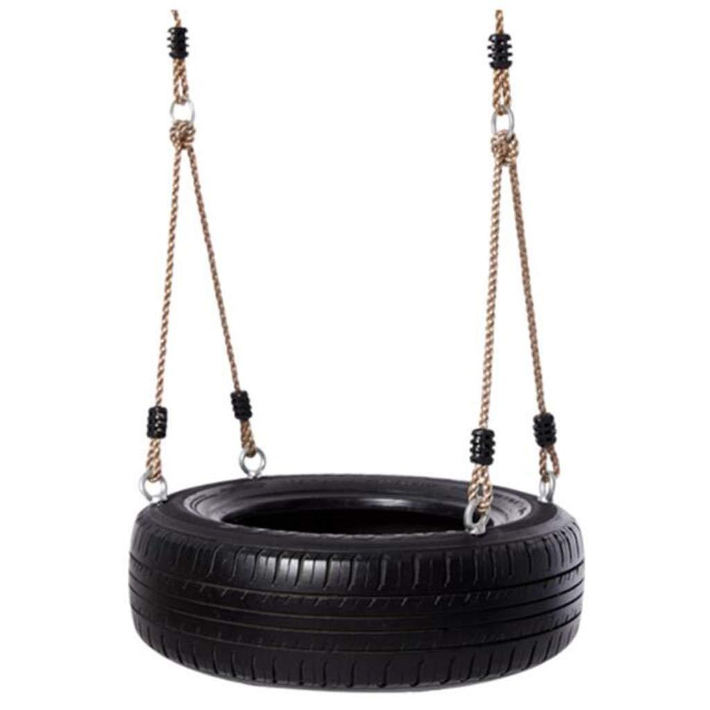 LHQ 子供の屋外スイングに耐えるタイヤスイング、安全で楽しい(黒) B07PR4Q37Q
