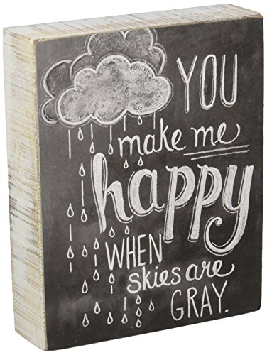 Primitives by Kathy Chalk Sign, 7.5 x 6-Inch, You Make Me Happy ()