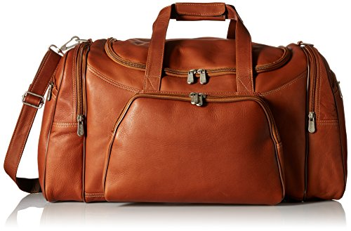 Piel Leather Sports Duffel, Saddle, One - Suit Piel