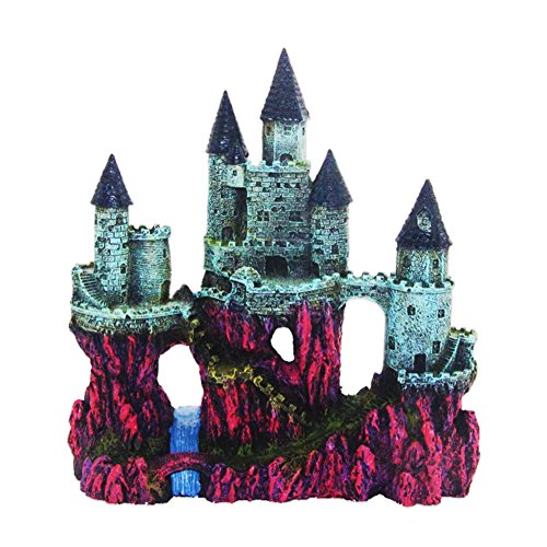 Siger Aquarium Ornaments Resin Big Castle Aquarium Supplies for Theme Decorations Fish Tank Aquatic Plants Accessories by Siger