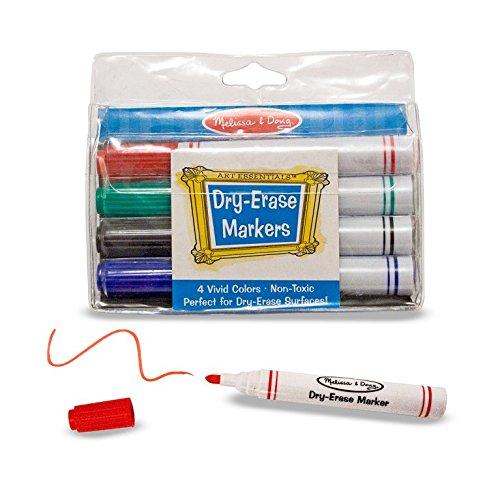 Melissa & Doug Dry-Erase Marker Set (4 (Doug Easel Companion Set)