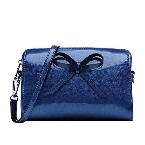 Femmes téléphone Sac Bleu pour avec Main bandoulière crédit en 11x2x7inch Portable de 29x6x18cm Bleu Petite Sacs Pochette à Cartes Cuir Fentes Sac qrExpYBE
