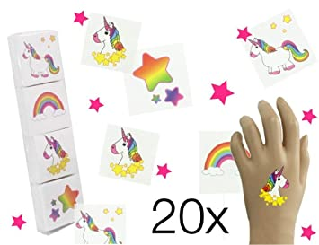 20x XXL Unicorn Sticker temporal tatuaje fotos para niños ...