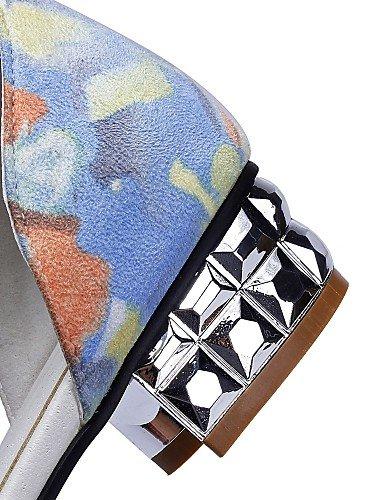 LFNLYX Zapatos de mujer - Tacón Bajo - Puntiagudos - Sandalias - Oficina y Trabajo / Vestido / Casual - Semicuero -Azul / Amarillo / Rosa / , blue , us10.5 / eu42 / uk8.5 / cn43 Blue