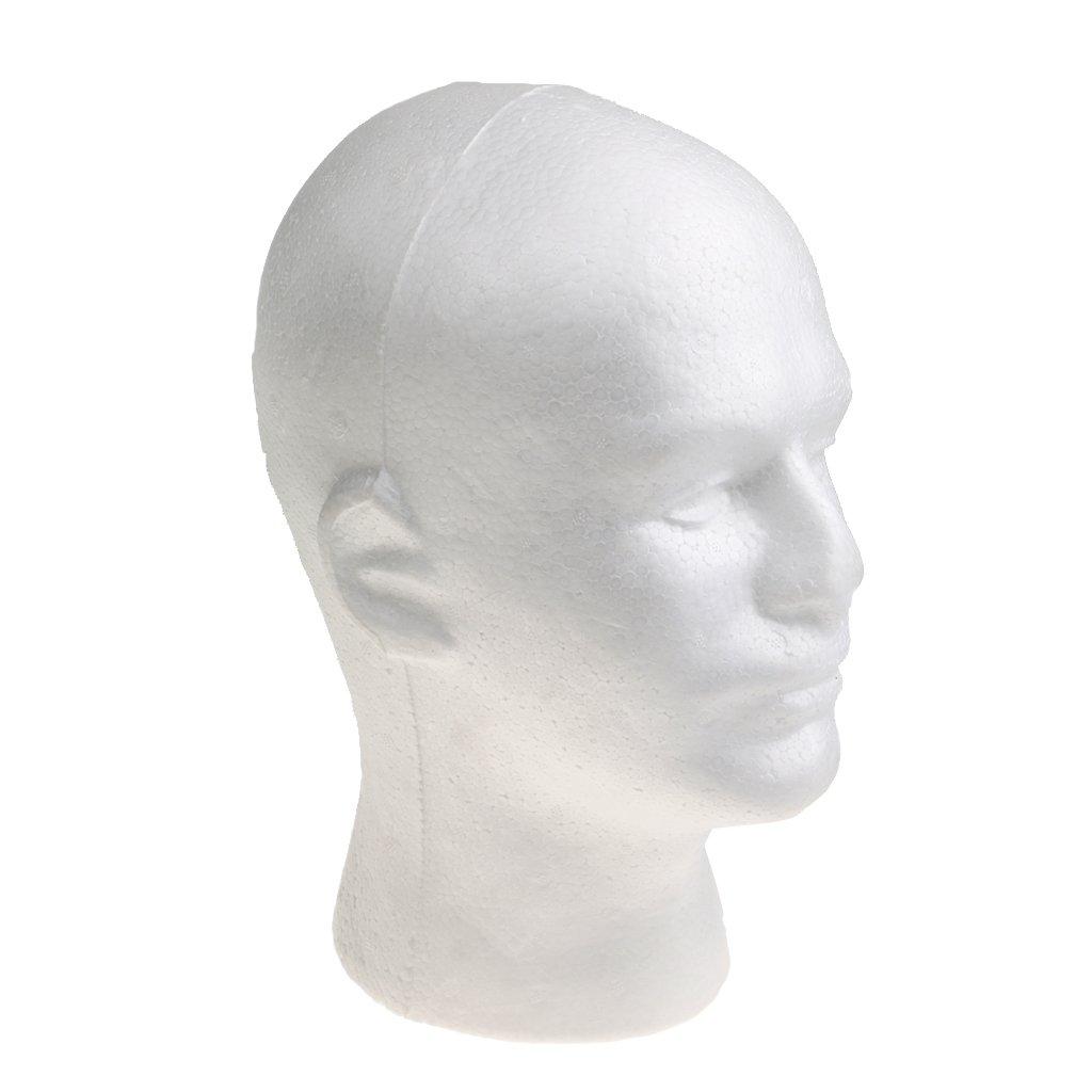 Casquillo Del Modelo Calvo Maniquí Femenino Bufanda Principal Sombrero Pelucas De Exhibición - Blanco, un tamaño Generic