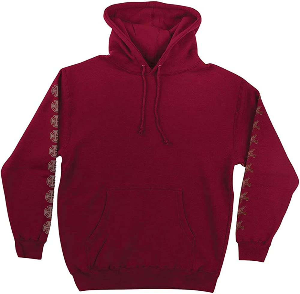 XXL Independent Trucks x Thrasher Magazine Pentagram Cross Mens Pullover Hoodie Garnet