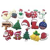 16pcs Christmas Day,santa Claus,christmas Trees Shoe Charms for Croc Shoes & Wristband Bracelet