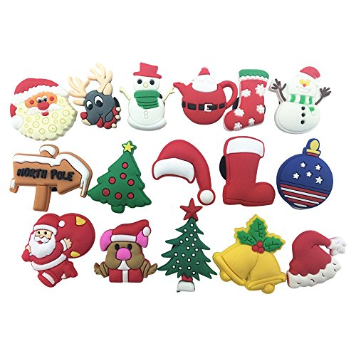 : 16pcs Christmas Day,santa Claus,christmas Trees Shoe Charms for Croc Shoes & Wristband Bracelet