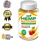 Multivitamin Infused with Organic Hemp - 1530mg of Cold-Pressed Hemp - Chewable Gummy – The Perfect Daily Supplement – Bursting Nutrients for Overall Health - 60 Count