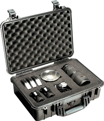 Pelican 1500 Case With Foam (Black) Professional Gadget Bag