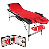 3 Fold Portable Massage Table Facial SPA Bed Tattoo w/Free Carry Case