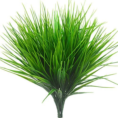 Bird Fiy Artificial Greenery Plastic Wheat Grass Fake Leaves Shrubs Greenery Bushes Indoor Outside Home Garden Office Verandah Wedding Decor / 4Pcs