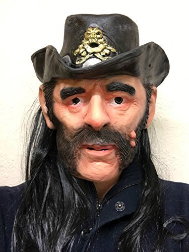 Rubber Johnnies Lemmy, Ace of Spades, Latex Mask, Rock Star Masks, Famous People, Celebrity Costume -