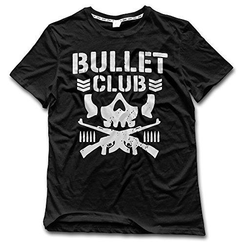 Anch Men's Bullet Club Bone Soldier Black Short Sleeve Crew (Bullet Mens Tee)