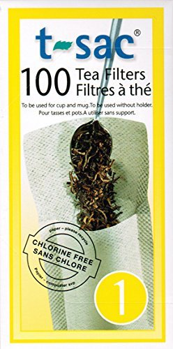 T-Sac Tea Filters, Size 1 (1 Cup), 100-count Box (24) by T-Sac