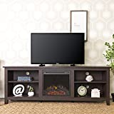 "Product review for WE Furniture 70"" Wood Fireplace TV Stand Console, Espresso"