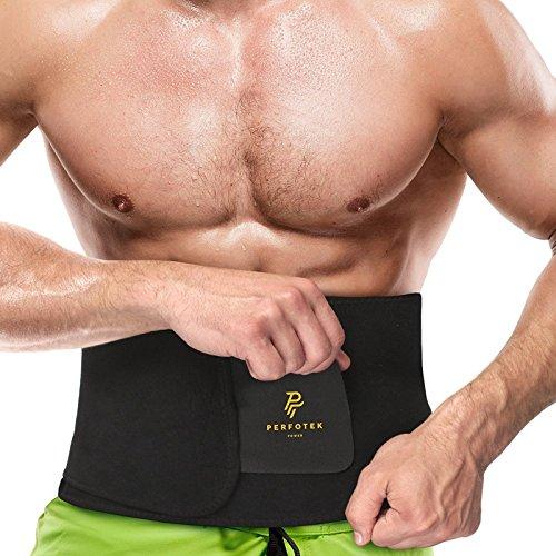 Perfotek Waist Trimmer Belt, Weight Loss Wrap, Stomach Fat Burner, Low Back...