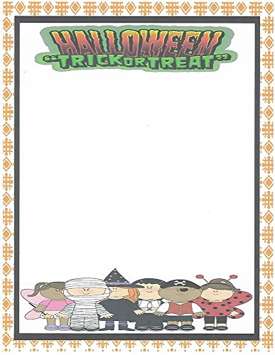 Kid's Halloween Trick or Treat Stationery Printer Paper 26 Sheets