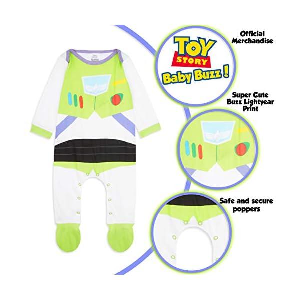 Disney Toy Story Tutine Neonato Buzz Lightyear, Pigiama Intero Bambino, Tutina per Neonati in Puro Cotone, Abbigliamento… 2