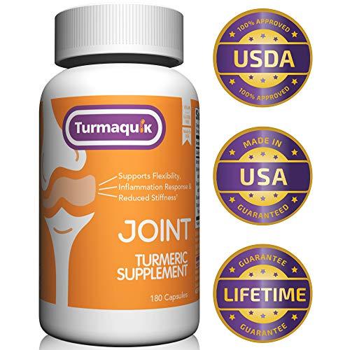 550mg Meriva Curcumin Turmeric Supplement (180 Capsules) + 5 Boosters: BioPerine Black Pepper, Boswellia, Ginger, Chamomile & Calcium (Best Turmeric Supplement For Cancer)