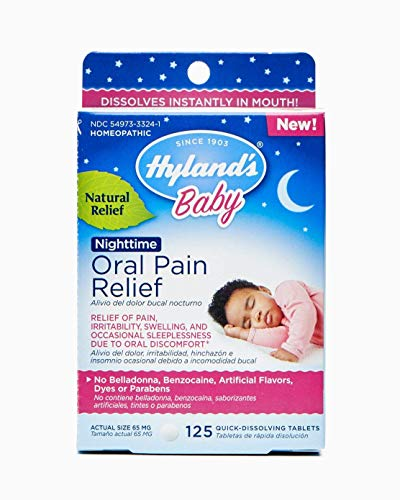 Hyland's Baby Nighttime Oral Pain Relief Tablets, 125 Count (2)