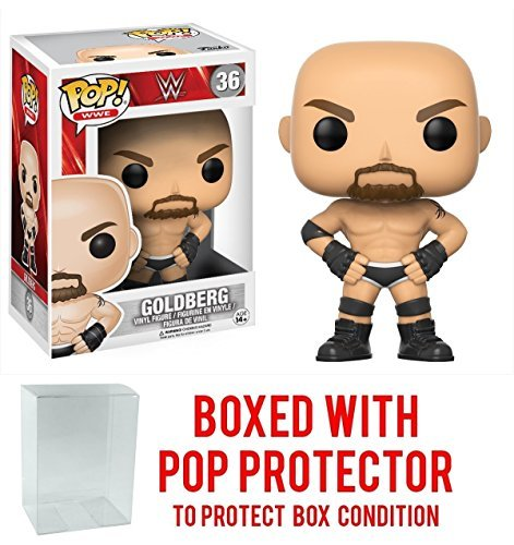 Funko Pop! WWE Goldberg Vinyl Figure (Bundled with Pop BOX PROTECTOR CASE) by Funko